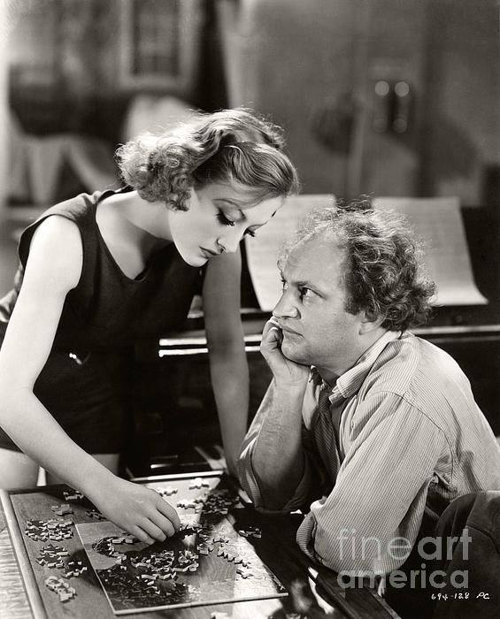 Joan Crawford and Larry Fine,