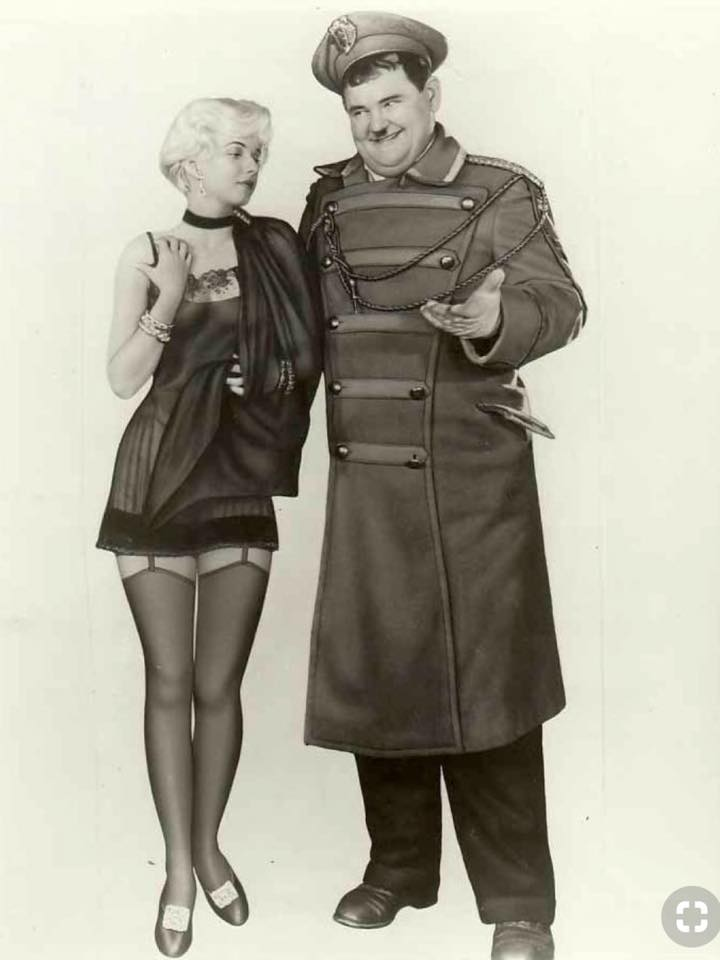 Jean Harlow & Oliver Hardy