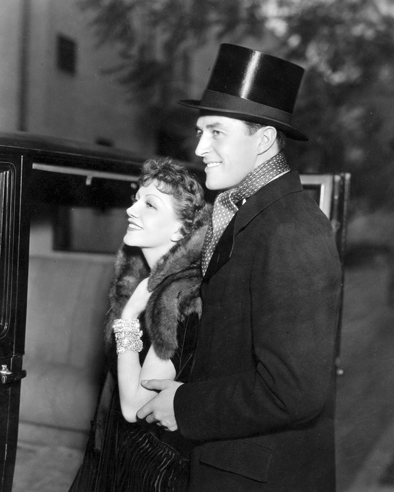 Ray Milland with Claudette Colbert