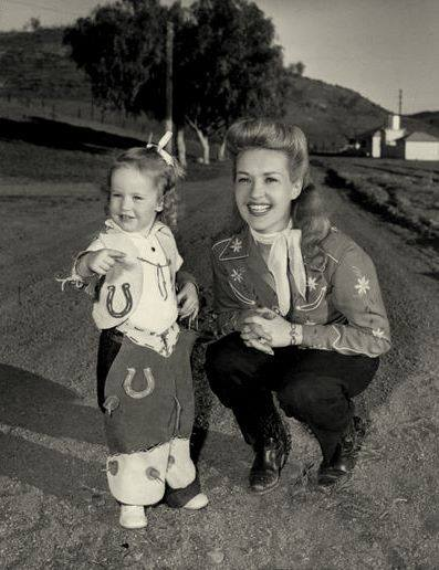 Betty Grable and her daughter