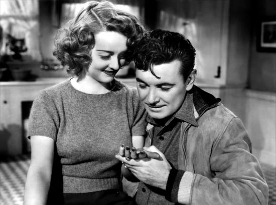Bette Davis and yummy George Brent.