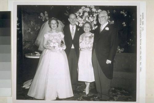 At wedding of Virginia Warren and John Daly, December 1960