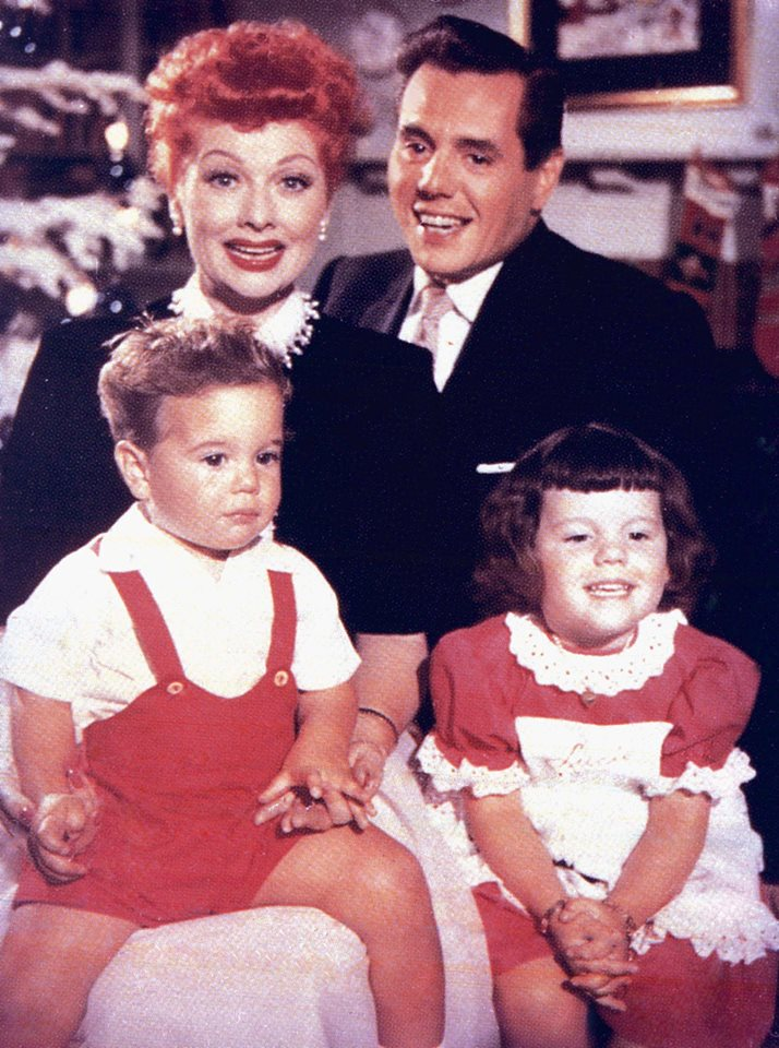 Lucille Ball and Desi Arnaz with their children