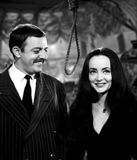 John Astin with Carolyn Jones