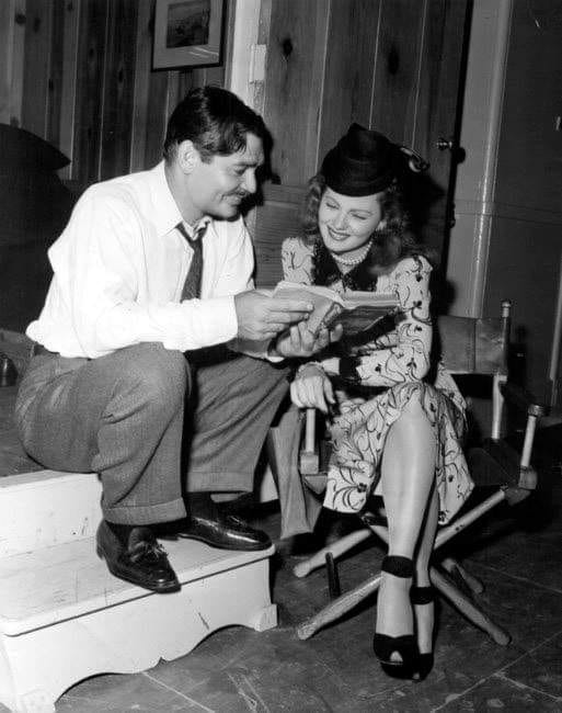 Clark Gable and Barbara Billingsley