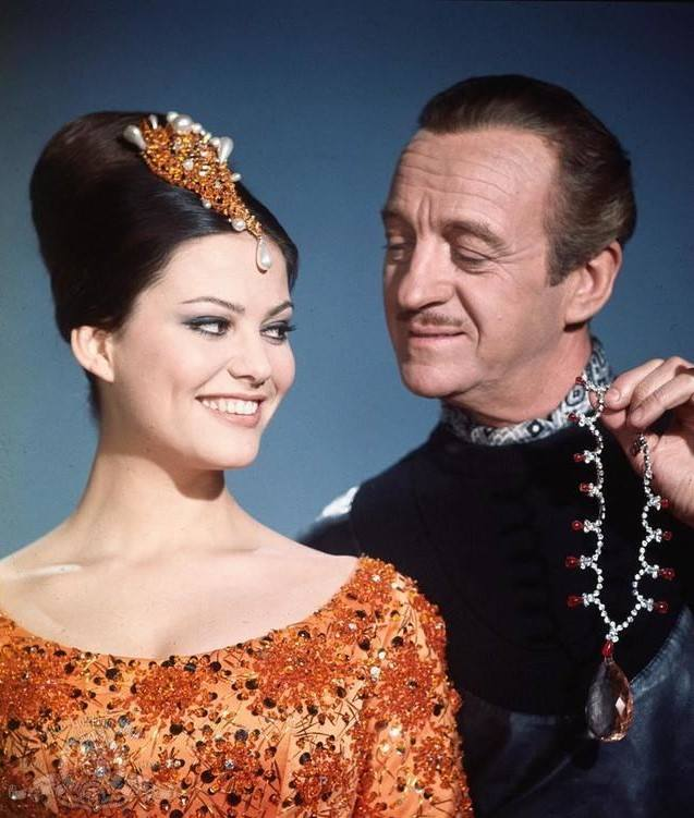 Claudia Cardinale with David Niven