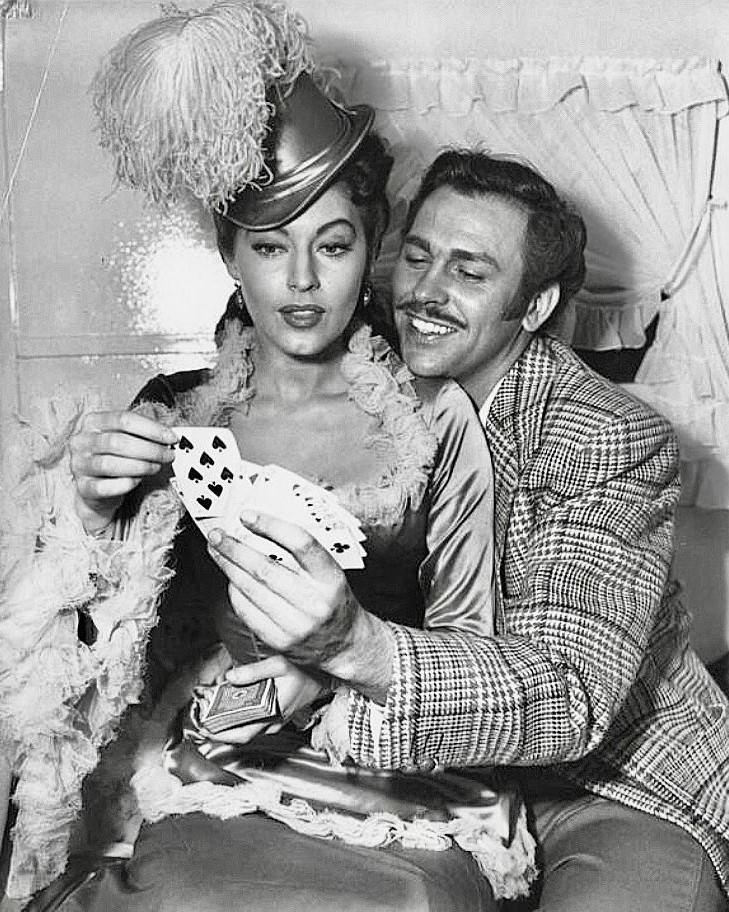 Howard Keel with Ava Gardner