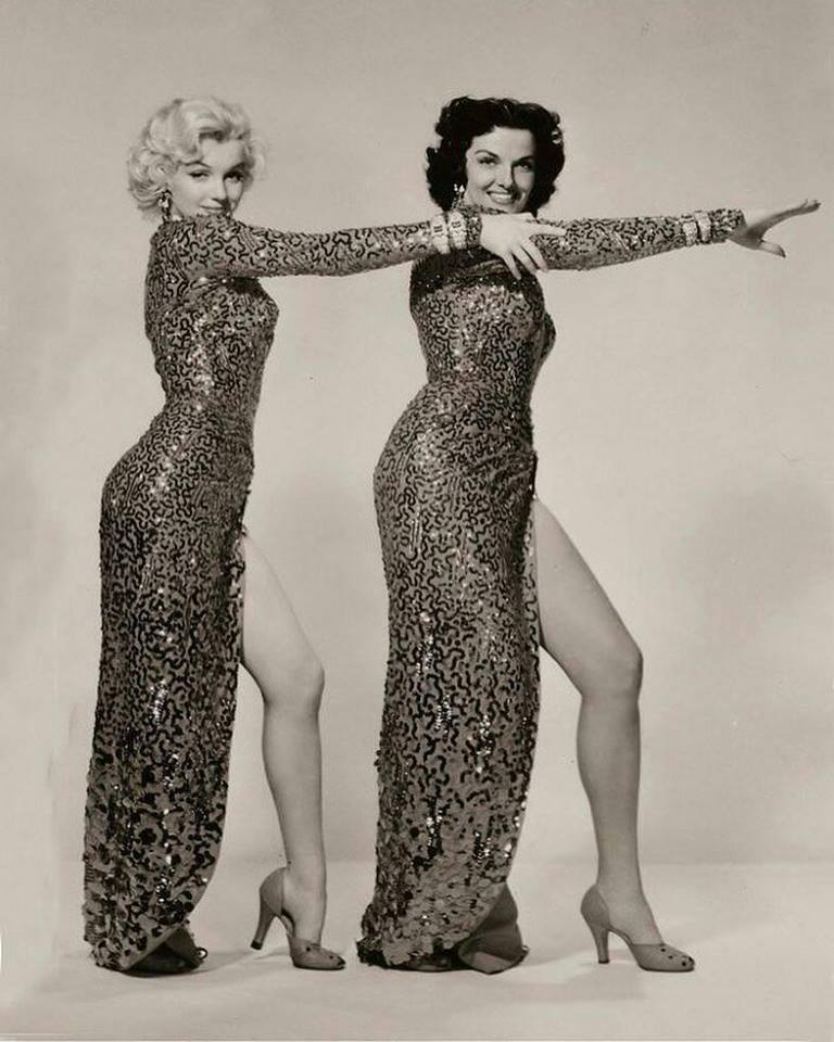 Marilyn Monroe and Jane Russell.