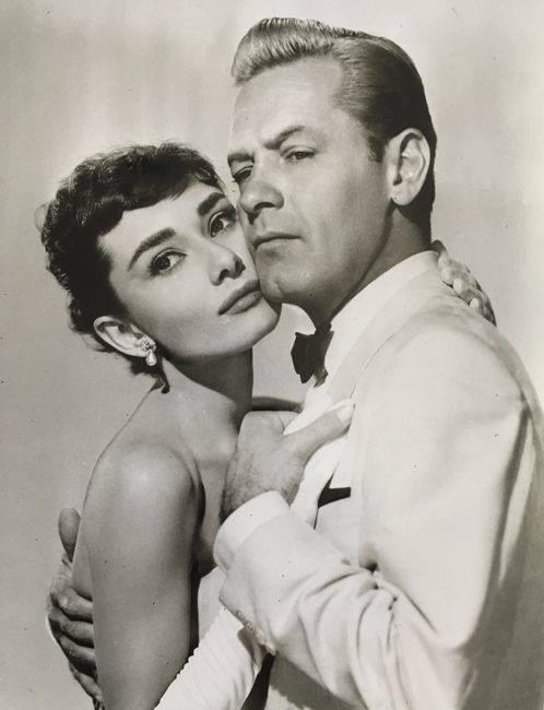 William Holden with Audrey Hepburn