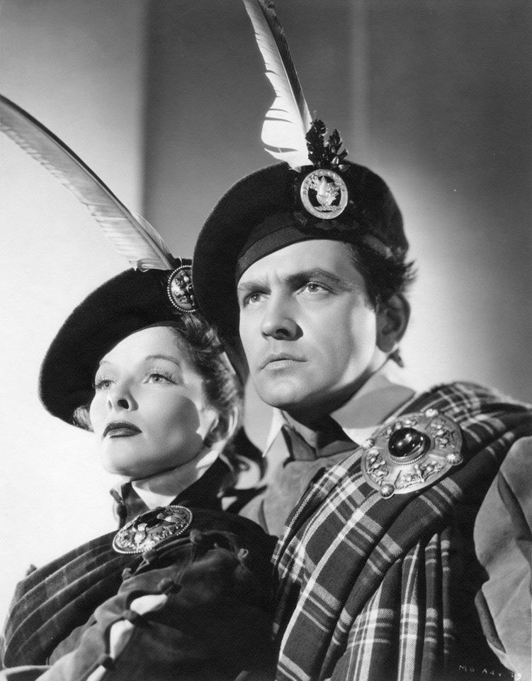 Katharine Hepburn and Fredric March