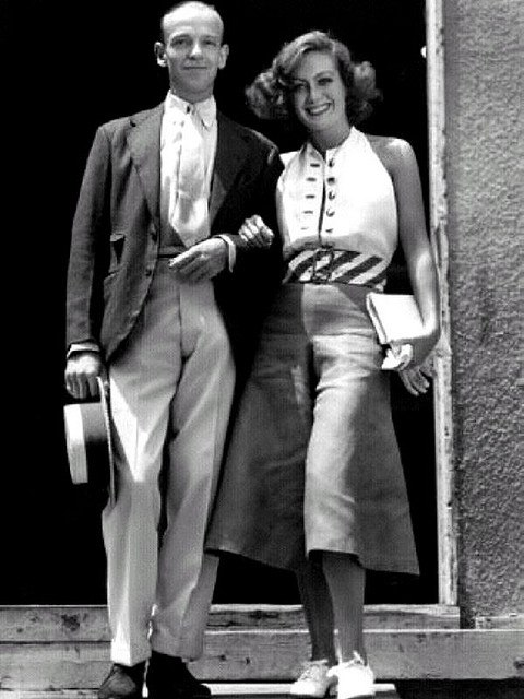 Fred Astaire with Joan Crawford at the studio