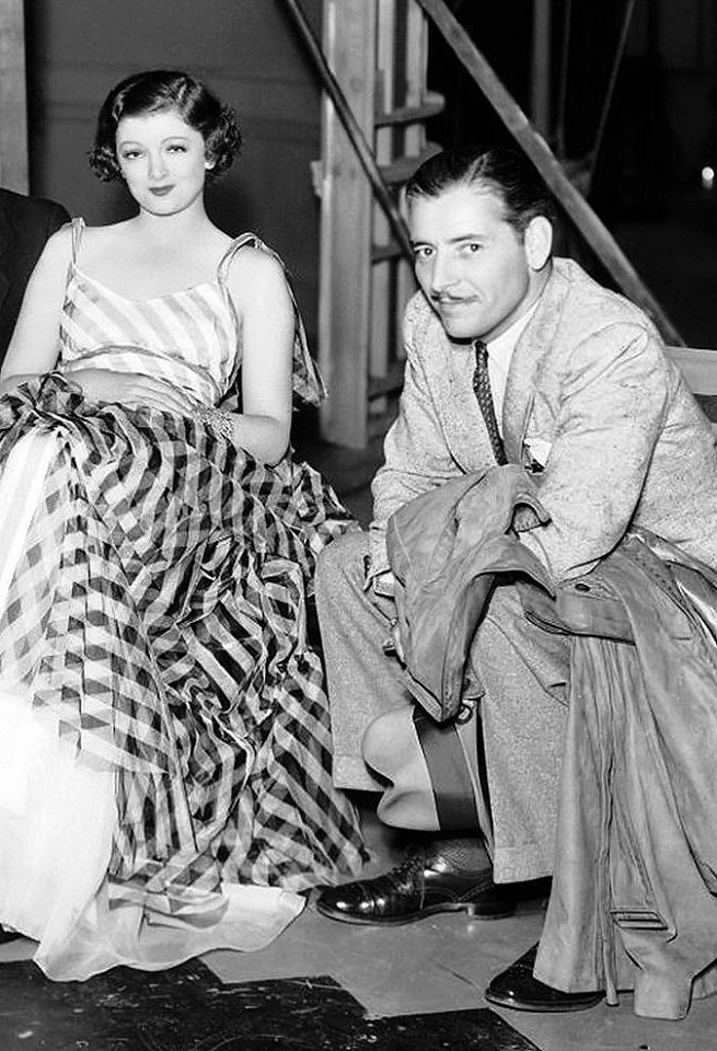 Myrna Loy with Ronald Colman