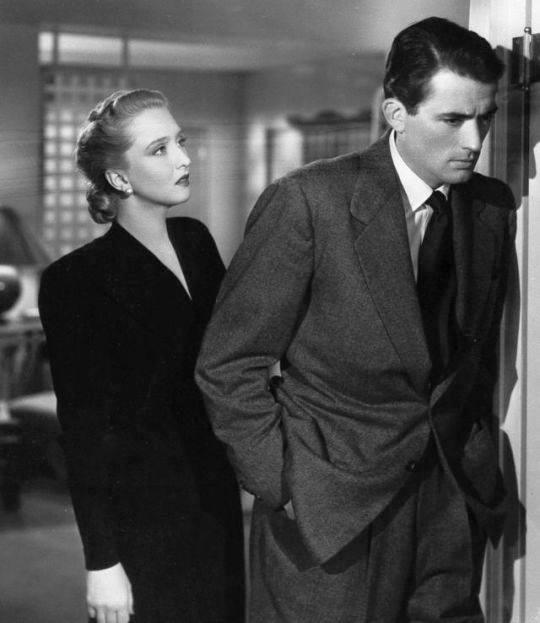 Celeste Holm y Gregory Peck