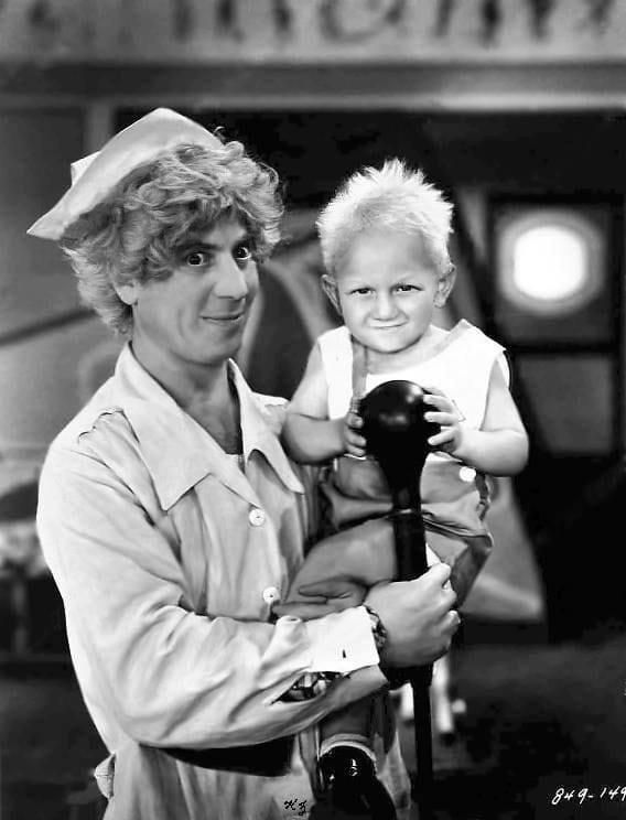 Harpo Marx and Billy Barty