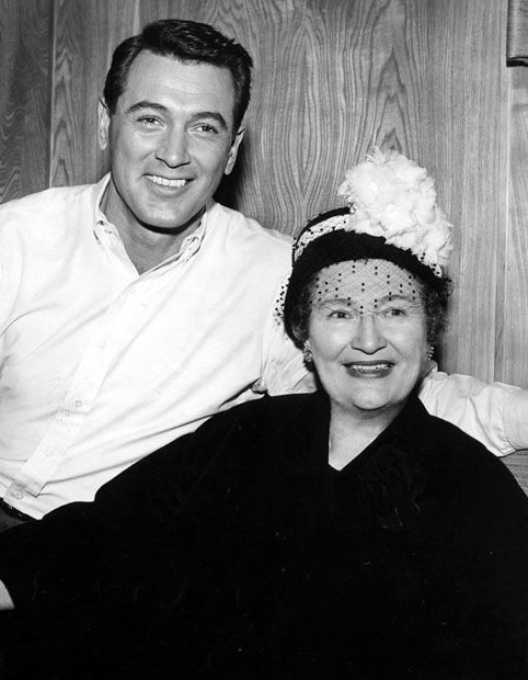 ROCK HUDSON with his mother Katherine in 1961