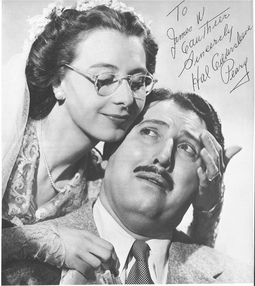 autographed photo of Hal Peary The Great Gildersleve with actress Mary Field.