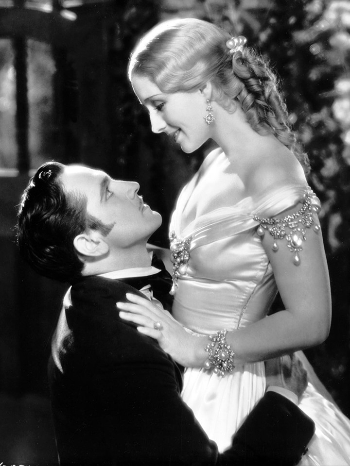 Fredric March and Norma Shearer # Smilin Through 1932.