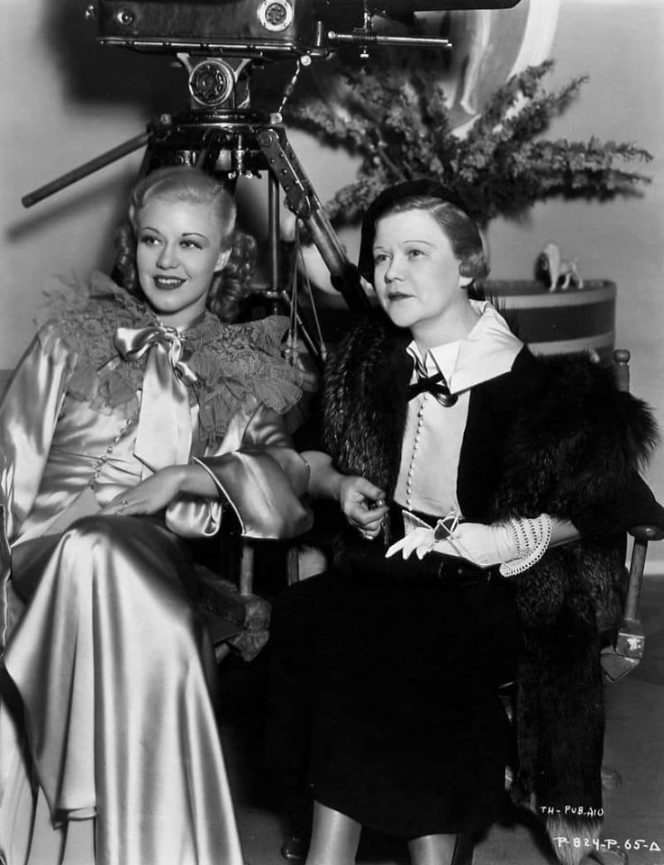 Ginger Rogers and her mother, Leila