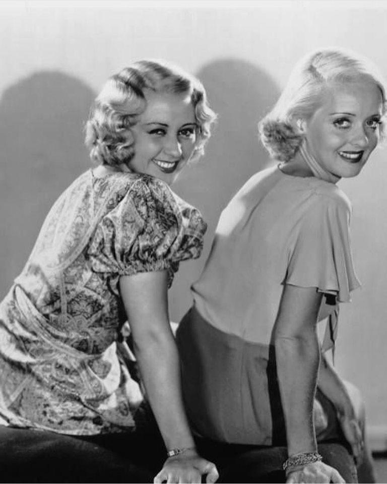 Joan Blondell and Bette Davis