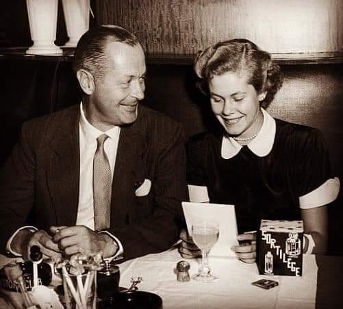 Elizabeth Montgomery  with famous father, actor Robert Montgomery
