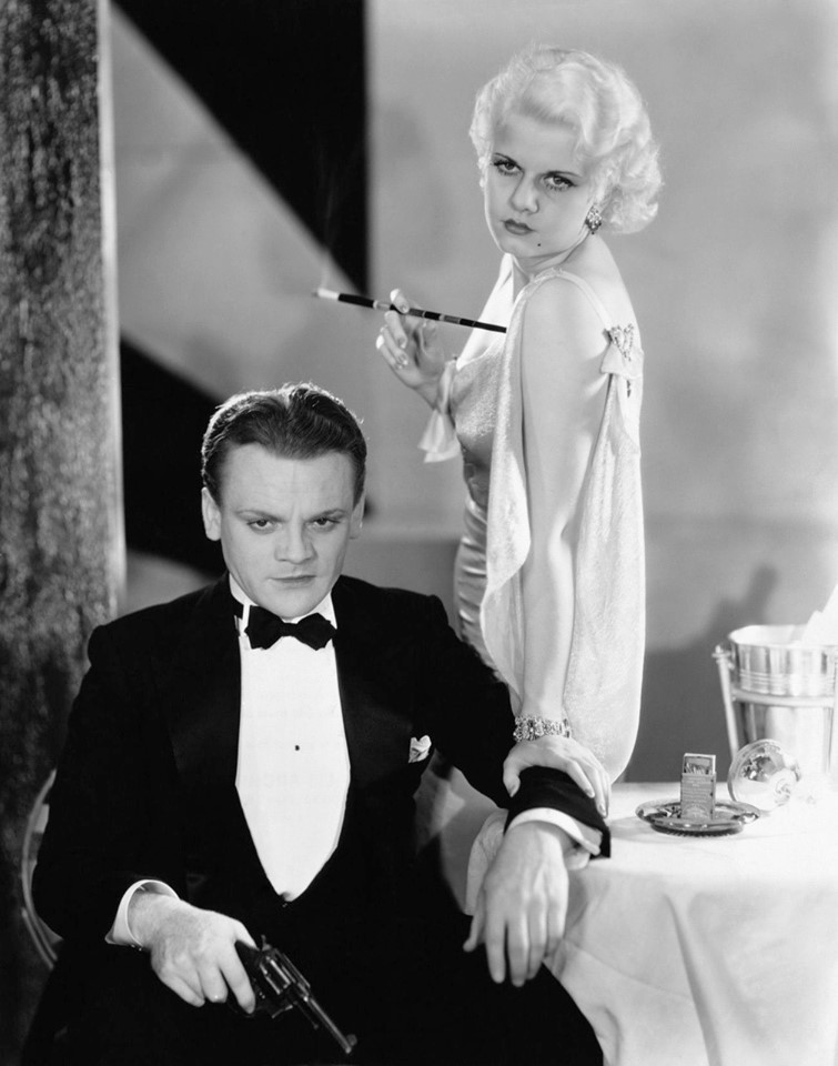 James Cagney and Jean Harlow