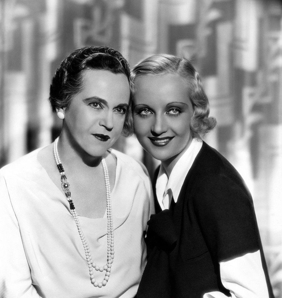 Carole Lombard and her mother Bessie