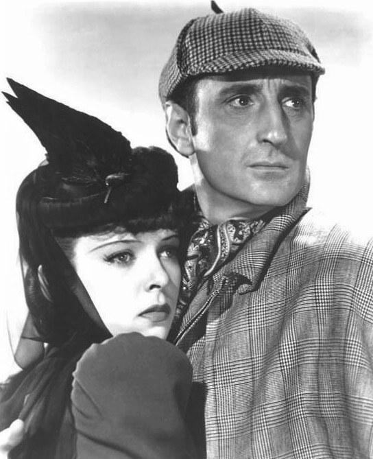 Basil Rathbone with Ida Lupino