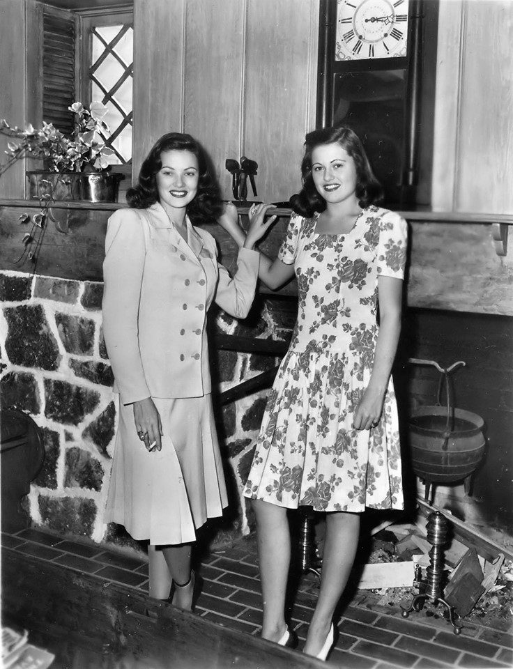 Gene is pictured here with her younger sister, Patricia.