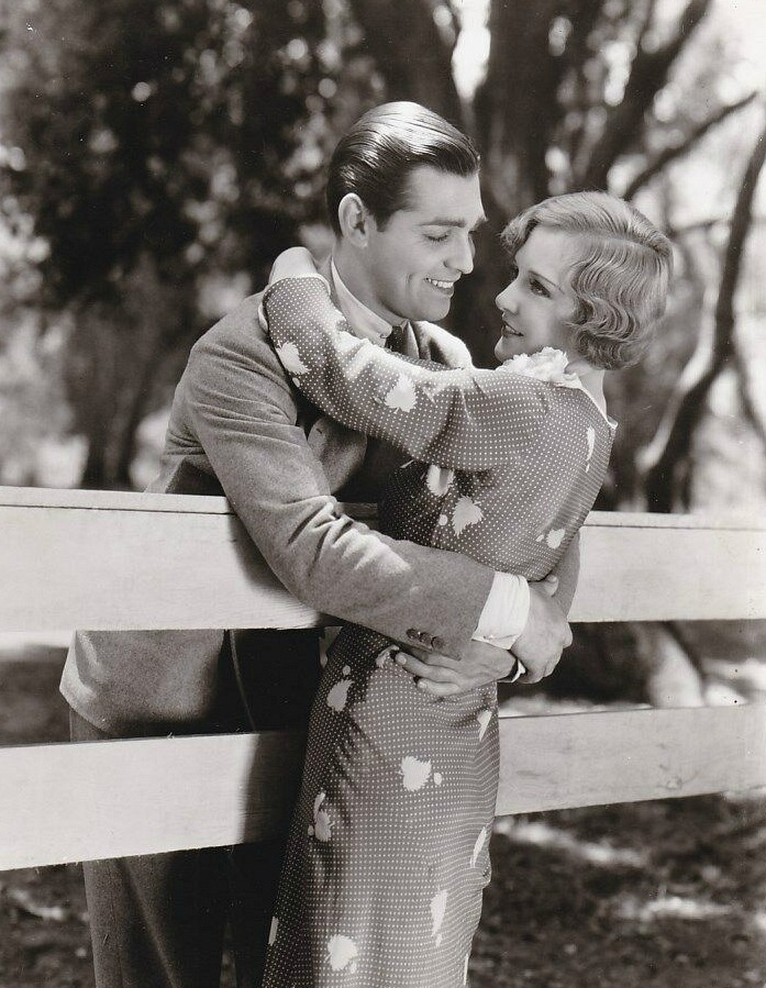 Clark Gable and Madge Evans in Sporting Blood, 1931