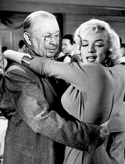 Charles Coburn with Marilyn Monroe