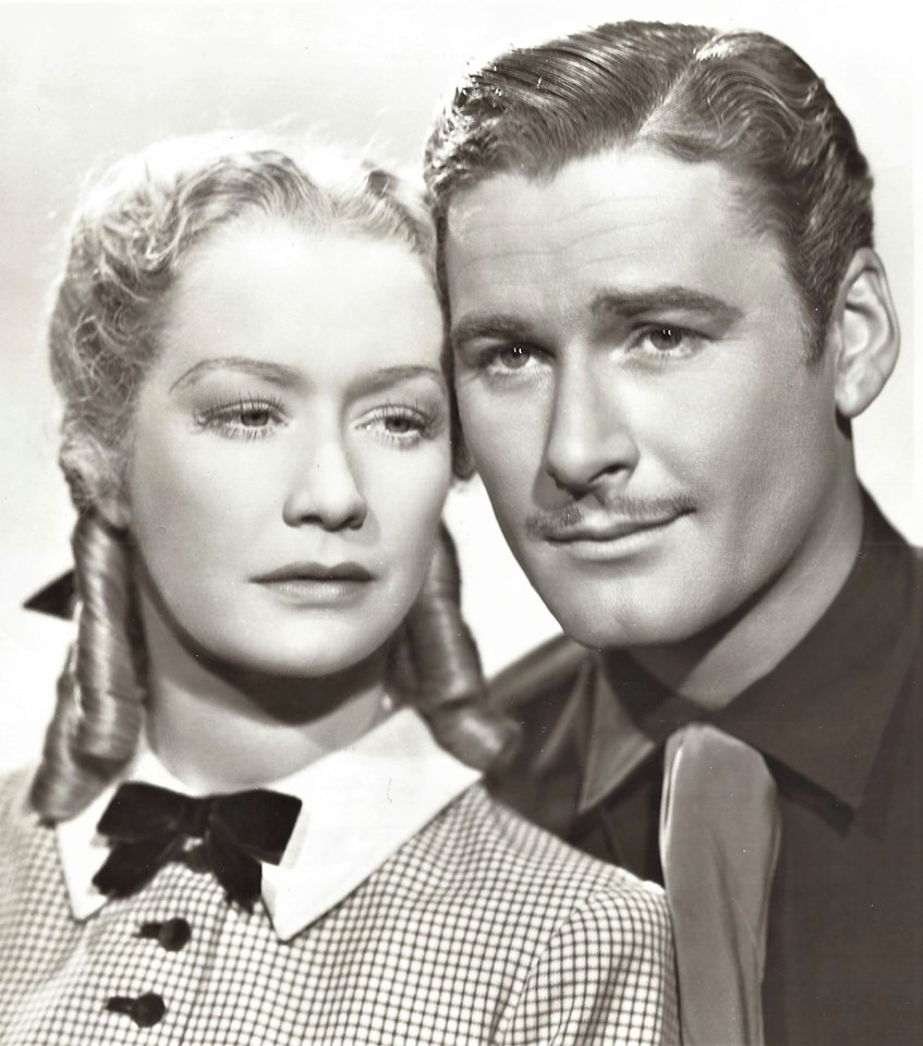 Errol Flynn with Miriam Hopkins