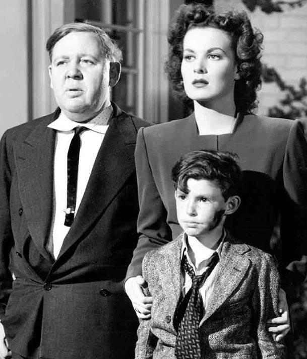 Charles Laughton with Maureen O'Hara