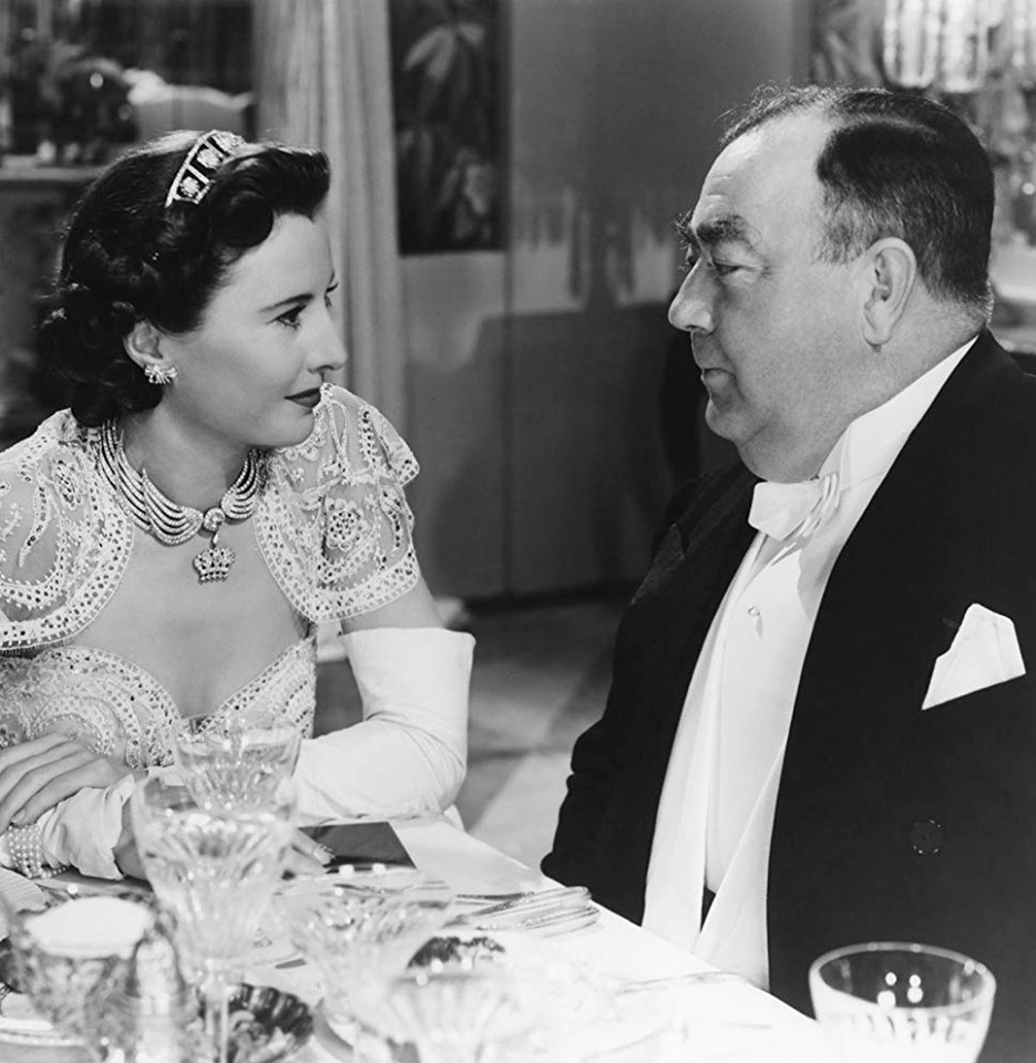 Eugene Pallette with Barbara Stanwyck