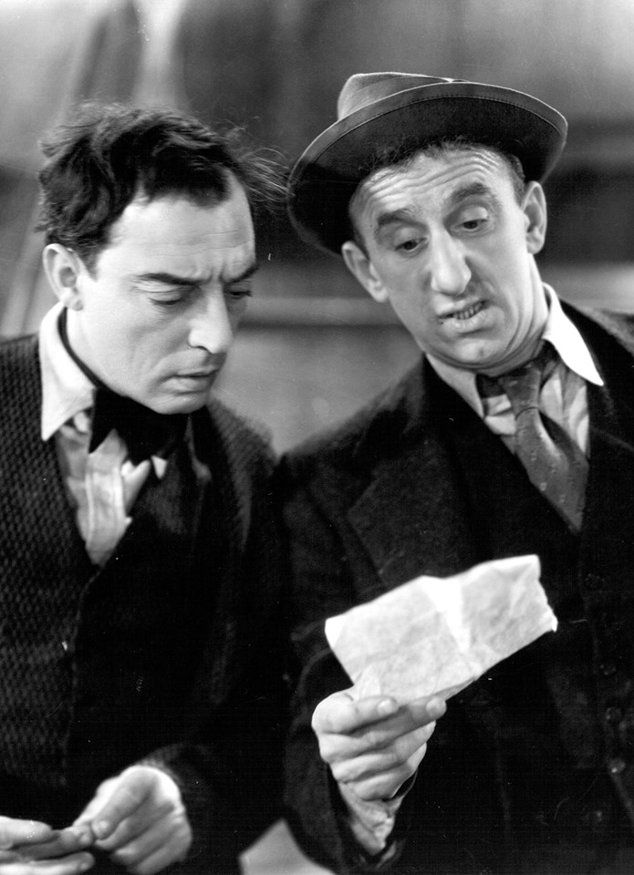 Buster Keaton (1895-1966) and Jimmy Durante