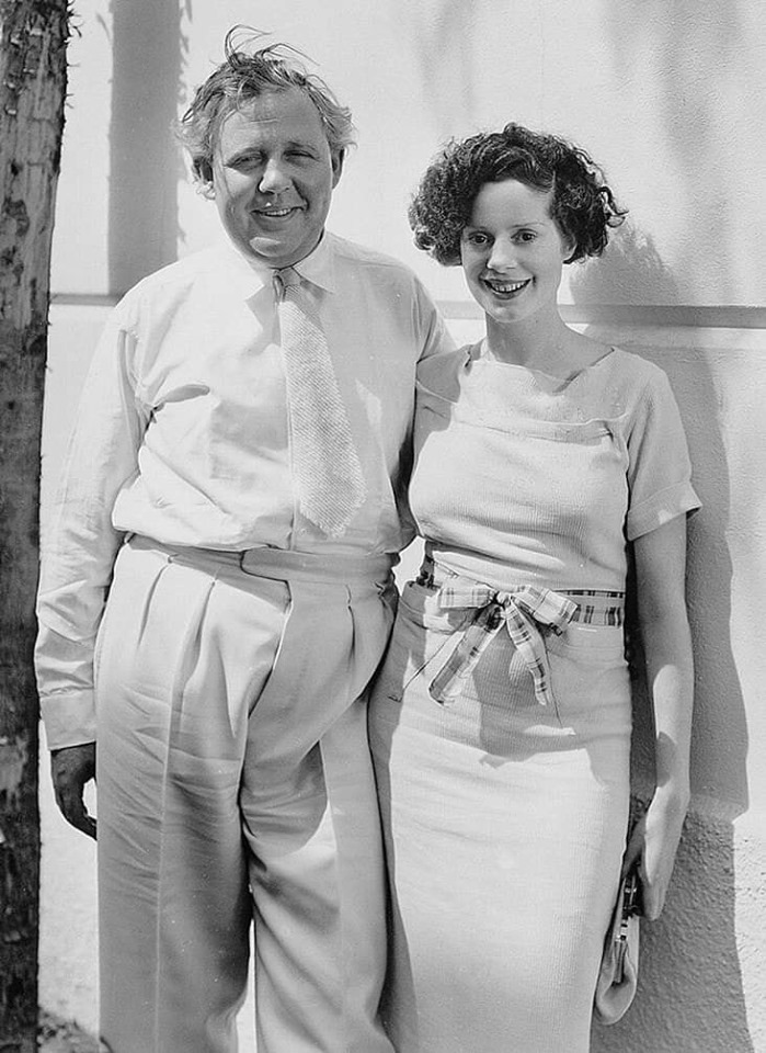 Elsa Lanchester and her husband Charles Laughton.