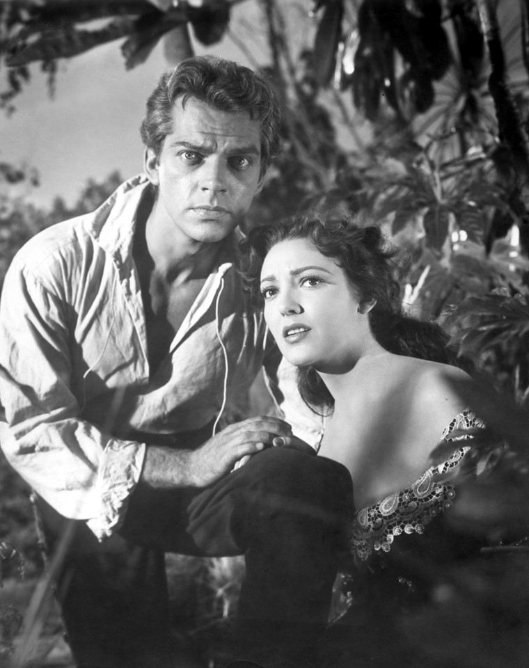 Keith Andes with Linda Darnell