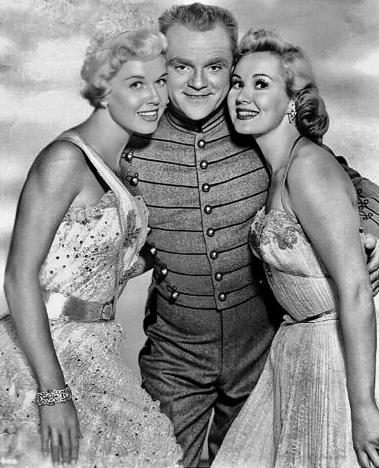 James Cagney with Doris Day and Virginia Mayo