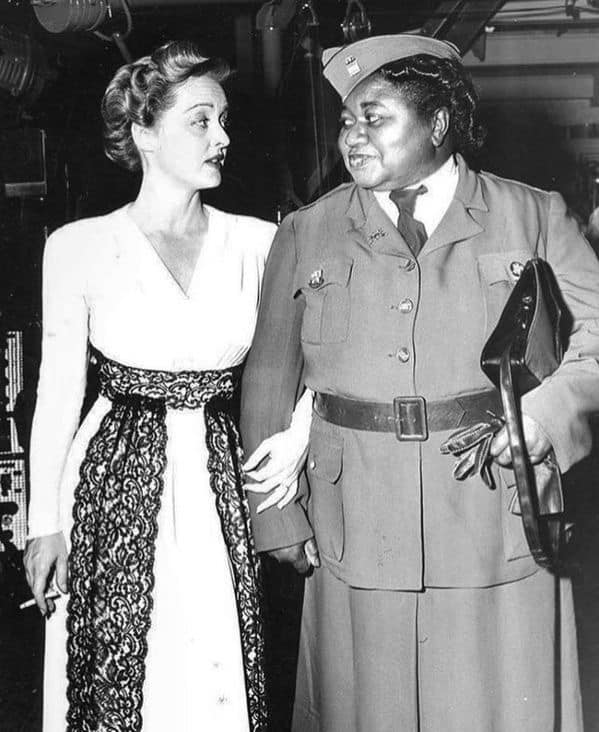 Bette Davis and Hattie McDaniel