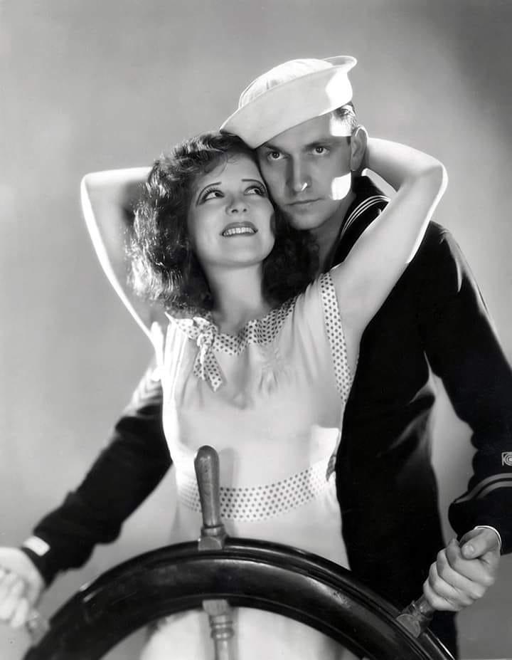 Clara Bow and Fredric March