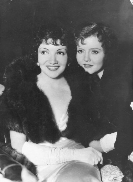 Claudette Colbert and Nancy Carroll