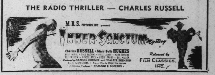 Inner Sanctum Mysteries | Thriller | Old Time Radio Downloads
