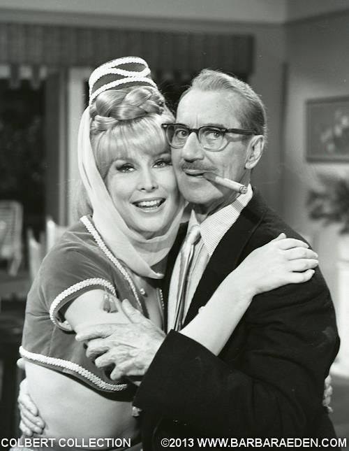Barbara Eden with Groucho Marx.