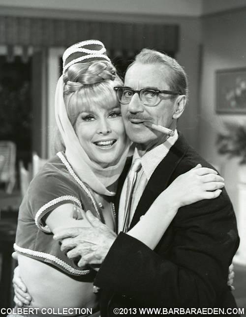 Barbara Eden with Groucho Marx.