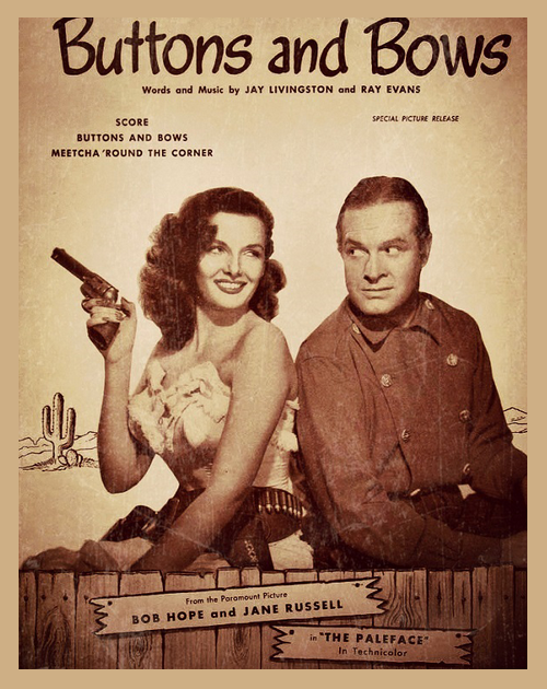 Bob Hope and Jane Russell The Paleface