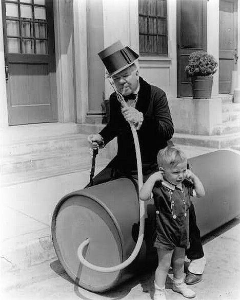 W.C. Fields and Baby Leroy celebrate Independence Day.