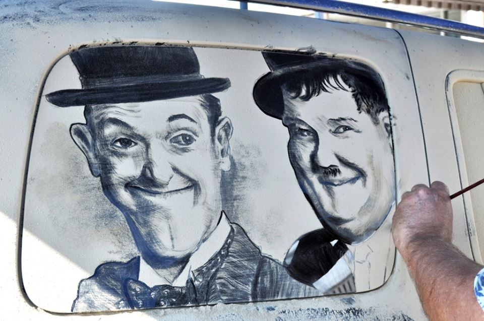 Laurel and Hardy art