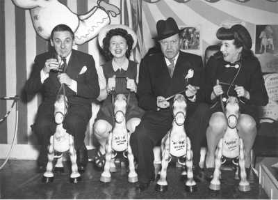 Jack Train, Molly Weir, Tommy Handley and Lind Joyce