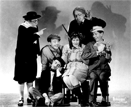 CAST Standing left to right: Merrill Fugit, Bruce Kamman Sitting left to right: Billy White, Cecil Roy, Thor Erickson Sitting in front: Johnny Wolf