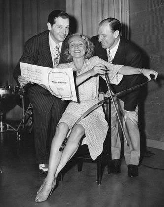 Marlene Dietrich, Milton Berle, Leo Durocher on Berle's radio show