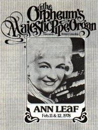 Ann LeaF organist